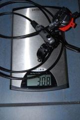 Shimano SLX klamka BL-M666 zacisk BR-M666 tył 1700mm