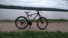 dookoła jeziora z samego rana 18km